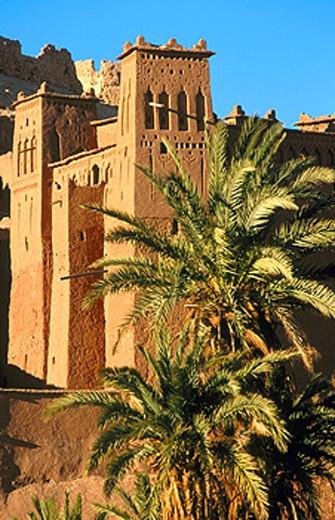 Ait Benhaddou kasbah. Uarzazat. Morocco : Stock Photo