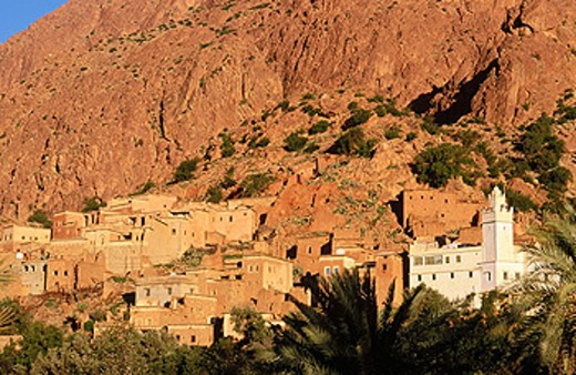 Village of Oumesnat (near Tafraoute). Morocco : Stock Photo
