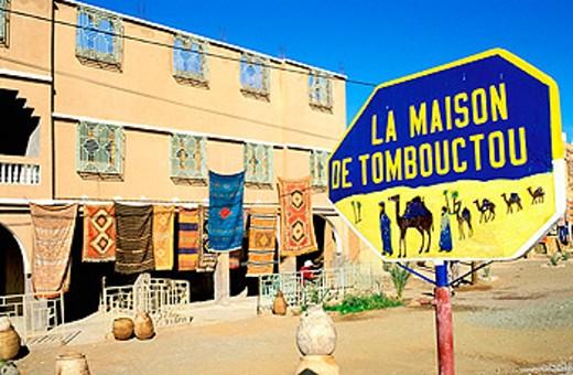 Handicraft shop. Amazraou. Drâa Valley. Morocco : Stock Photo