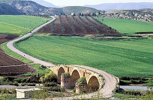 Stock Photo: 1566-0106071 Roman bridge, Cyrrhus. Syria