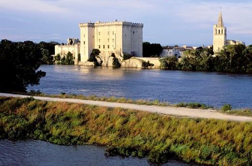 Sainte Marthe church and castle. Tarascon. Bouches du Rhone. Provence. France : Stock Photo