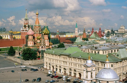 St. Basil´s cathedral, Kremlin. Moscow. Russia : Stock Photo