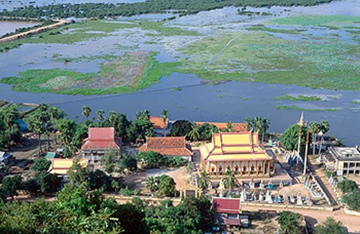 Chong Kneas village, Tonle Sap Lake. Siem Reap. Cambodia : Stock Photo