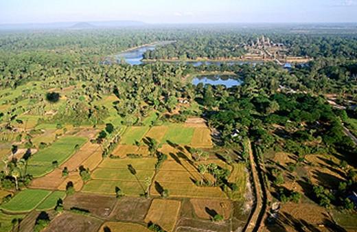 Stock Photo: 1566-0106811 Overview of Angkor Wat. Angkor. Siem Reap. Cambodia