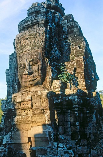 Bayon Temple in Angkor. Siem Reap. Cambodia : Stock Photo
