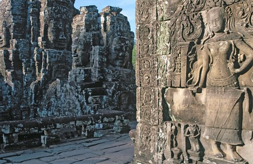 Stock Photo: 1566-0106823 Bayon Temple in Angkor. Siem Reap. Cambodia
