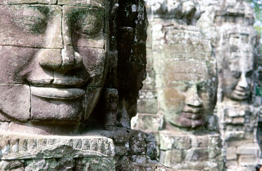 Stock Photo: 1566-0106825 Bayon Temple in Angkor. Siem Reap. Cambodia
