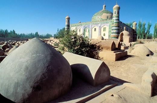 17th-century ruler Abak Hoja tomb. Kashgar. Sinkiang, China : Stock Photo