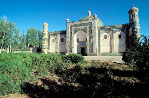 17th-century ruler Abak Hoja tomb. Kashgar. Sinkiang, China : Stock Photo
