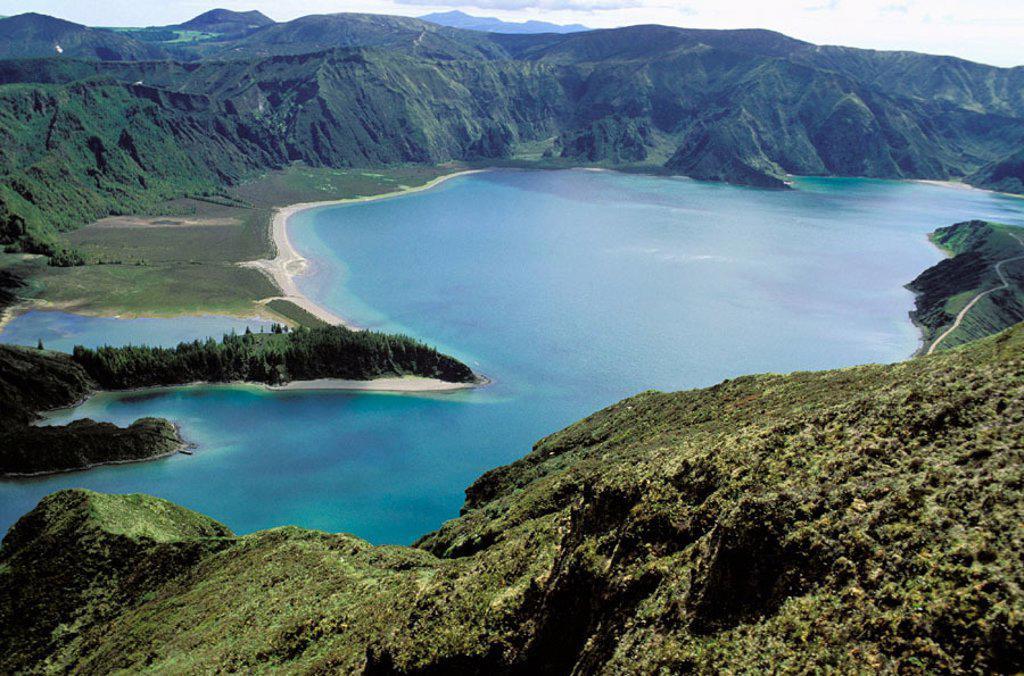 Stock Photo: 1566-0106924 Lagoa do Fogo, São Miguel island. Azores, Portugal