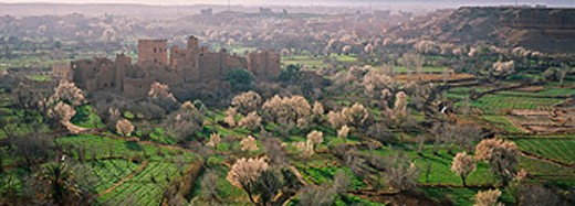 Kasbah from Kelaa M´gouna surrounding area. Dades Valley. High Atlas. Morocco : Stock Photo