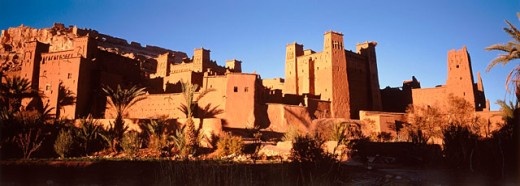 Stock Photo: 1566-0107120 Ait Benhaddou kasbah. Ouarzazate region. Morocco