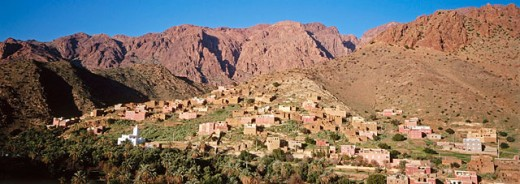 Emintizght village. Tafraoute. Anti Atlas. Morocco : Stock Photo