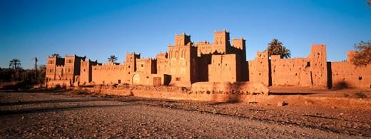 Amerhidil kasbah. Skoura. Oarzazate region. Morocco : Stock Photo