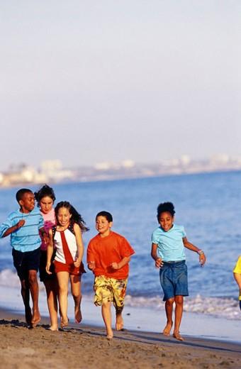 Kids in Malibu : Stock Photo