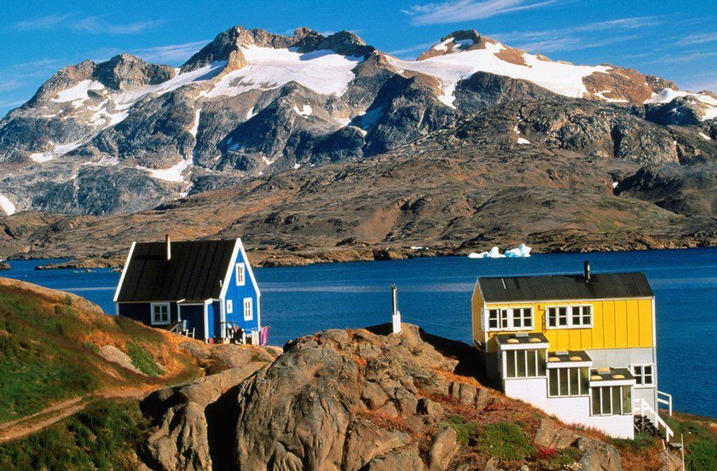 Stock Photo: 1566-0107815 Ammassalik. Greenland