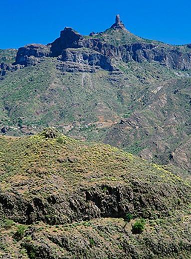Roque Nublo. La Palma, Canary Islands. Spain : Stock Photo
