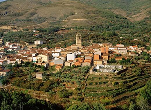Stock Photo: 1566-0108573 Garganta la Olla. La Vera. Caceres province. Extremadura. Spain