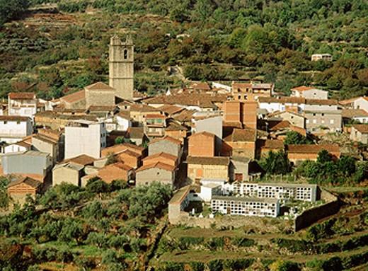 Garganta la Olla. La Vera. Caceres province. Extremadura. Spain : Stock Photo