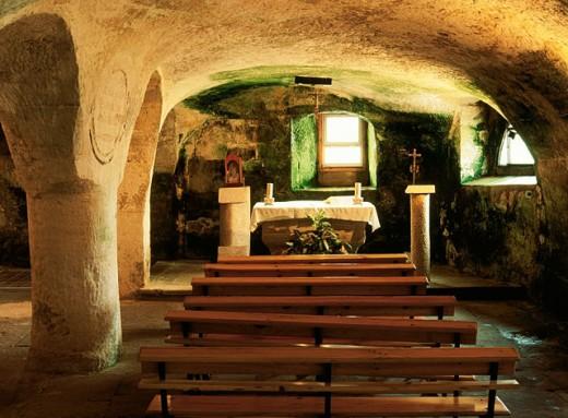 Stock Photo: 1566-0108836 Cave church of Santa María de Valverde. Valderredible. Cantabria, Spain