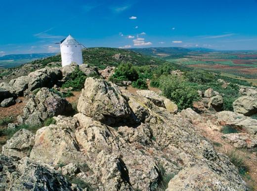 Stock Photo: 1566-0108979 Windmill in Los Yebenes. Toledo province. Castilla-La Mancha, Spain