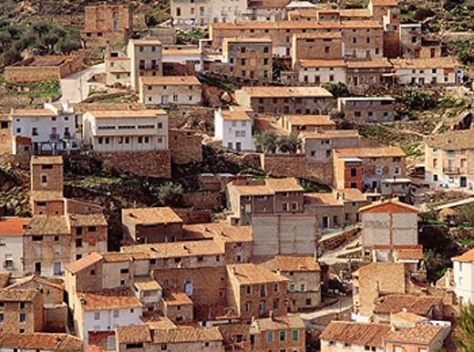 Royo Odrea in Hoz del Mundo. Albacete province. Castilla-La Mancha, Spain : Stock Photo