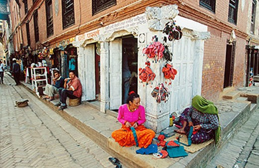 Stock Photo: 1566-0109419 Market in Bhaktapur. Kathmandu Valley, Nepal