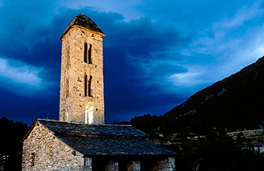 Sant Miquel d´Engolasters. Escaldes. Andorra : Stock Photo