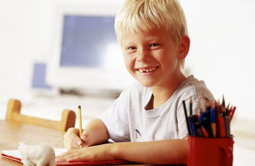 Doing homework : Stock Photo