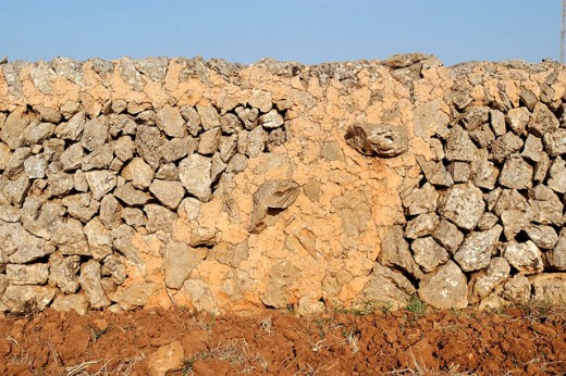 Stone wall, traditional architecture in Cami d´en Kane. Minorca. Balearic Islands. Spain : Stock Photo
