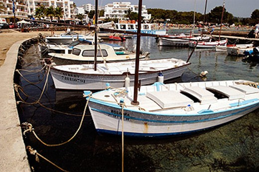 Harbour of Sant Antoni. Sant Antoni de Portmany. Ibiza. Balearic Islands. Spain : Stock Photo