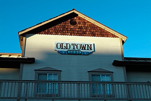 Stock Photo: 1566-0118042 Old Town sign in Napa. California, USA