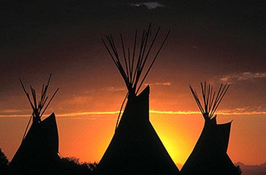 Teepees : Stock Photo
