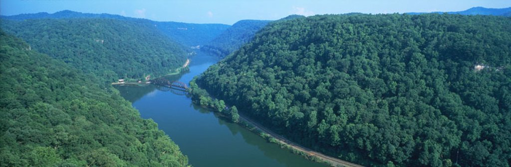 Stock Photo: 1566-0119854 New River Gorge. Hawk´s Nest State Park. Fayette county. West Virginia. USA