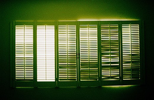 Light coming through window and shutters : Stock Photo