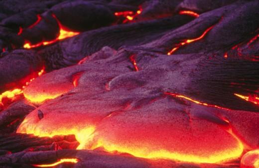 Stock Photo: 1566-0120649 Lava flow. Hawaii Volcanoes National Park. Hawaii