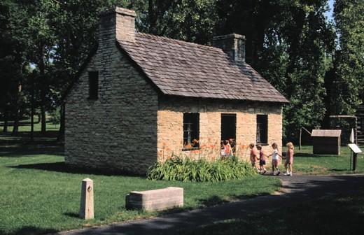 Stock Photo: 1566-0122519 William Morris House. Carillon Historical Park. Dayton. Ohio. USA