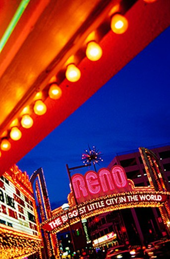 Stock Photo: 1566-0123373 Virginia Street. Reno. Nevada. USA