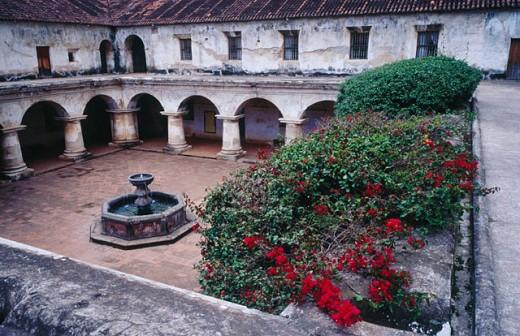 Santa Clara Church and Convent in Antigua. Guatemala : Stock Photo