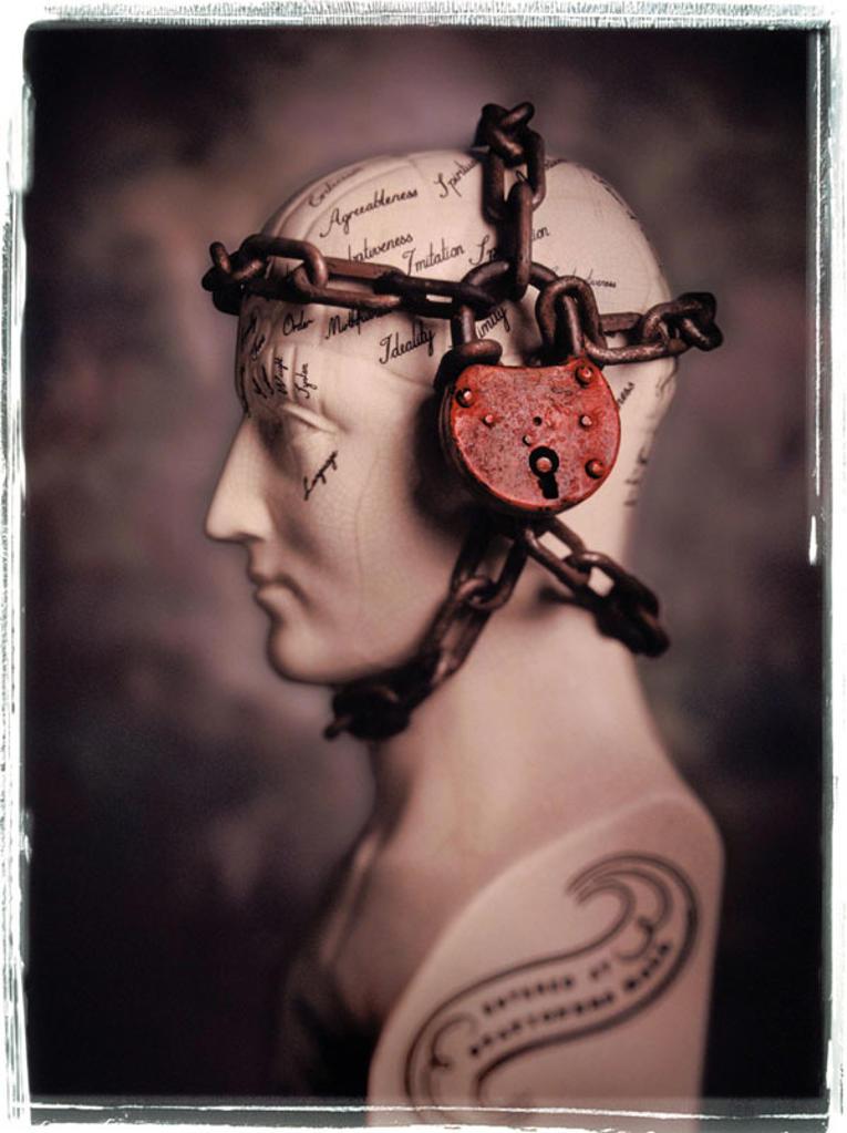 Phrenology head : Stock Photo