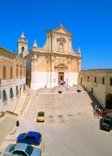 Victoria Cathedral. Gozo Island. Malta : Stock Photo