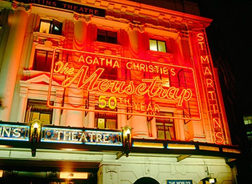 Agatha Christie´s ´The Mousetrap´ (longest running play in London) at St. Martin´s Theatre. London. England : Stock Photo