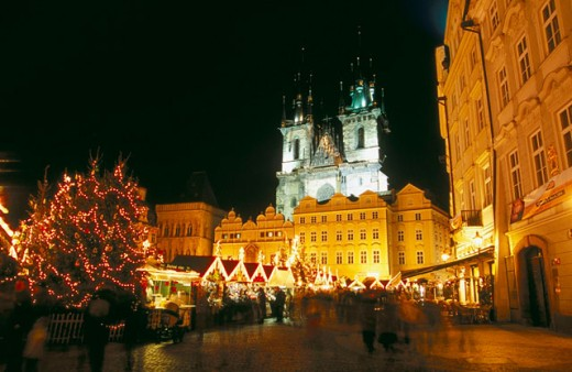 Czech Republic Prague Staromestske Namesti (Old Town Square) Christmas Market : Stock Photo
