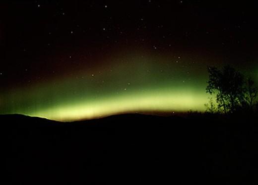 The northern light (Aurora Borealis) Norway : Stock Photo