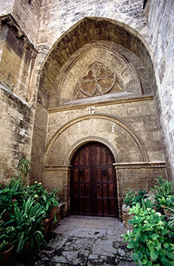 San Juan del Hospital church (built 13th century). Valencia. Spain : Stock Photo