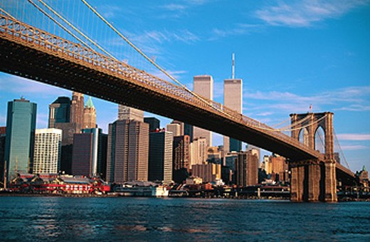 Brooklyn Bridge. New York City. USA : Stock Photo