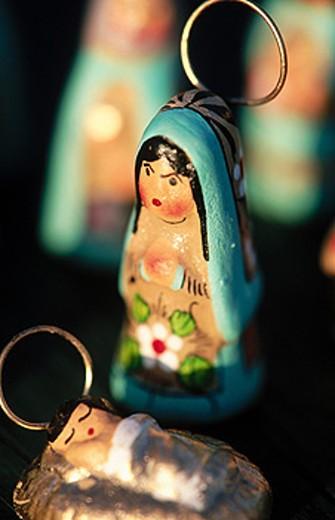 Nativity scene, Mexican pottery : Stock Photo