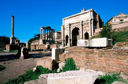 Stock Photo: 1566-0131013 Roman forum. Rome. Italy