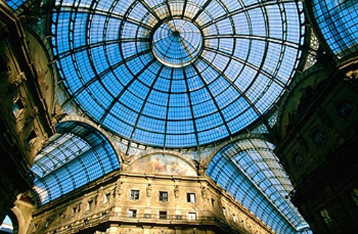 Vittorio Emanuele II Gallery. Milan. Italy : Stock Photo