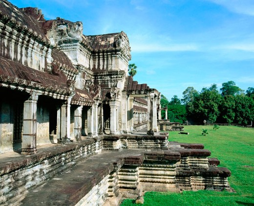 Angkor templei n Angkor. Siem Reap region. Cambodia : Stock Photo